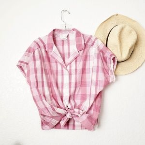 80-90s Vintage Button Down Plaid Striped shirt 481